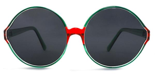 55942 Barbra Round green glasses