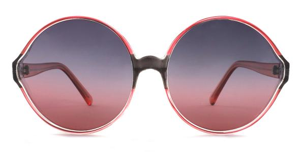 55942 Barbra Round red glasses