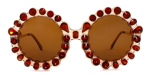 5735 Welss Round brown glasses