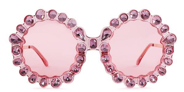 5735 Welss Round pink glasses