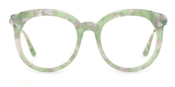 580003 Ricks Round green glasses