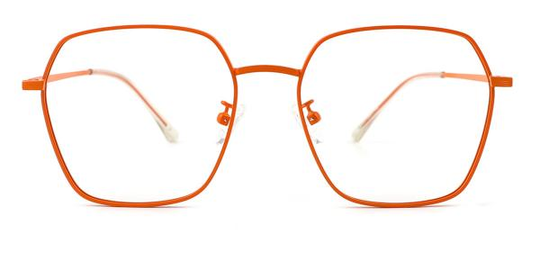 60227 Ann Geometric orange glasses