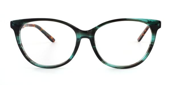 6045-1 Clara Cateye green glasses