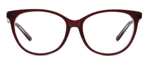 6045 Valencia Oval blue glasses