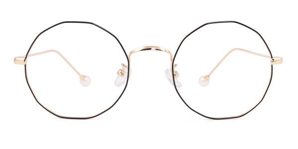 6063 Skye Geometric gold glasses