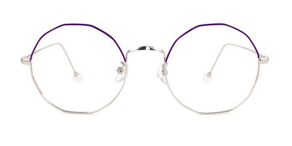 6063 Skye Geometric red glasses
