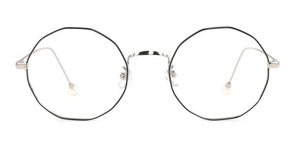 6063 Skye Geometric silver glasses