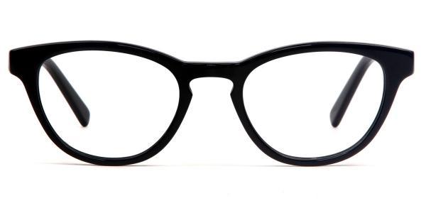 6100 Olivia Oval black glasses