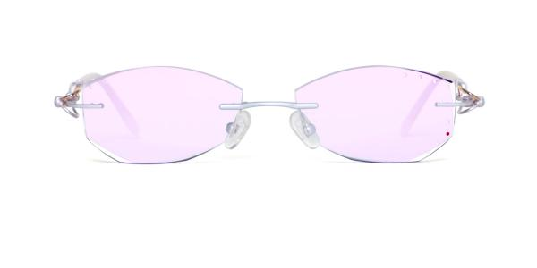 63331 Yessica Geometric white glasses