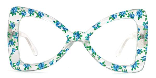 66307 Twinkle Butterfly green glasses