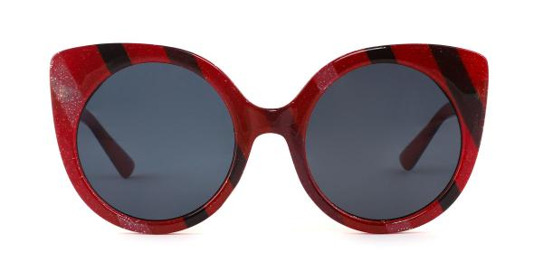 6926 Mia Cateye red glasses