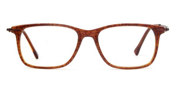 70002 Mays Rectangle orange glasses