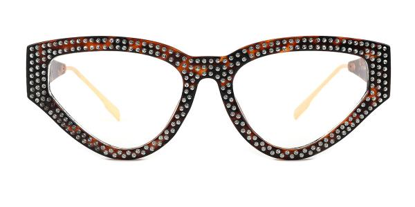 8078 Genevieve Cateye black glasses