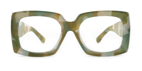 8137 Xaria Rectangle green glasses