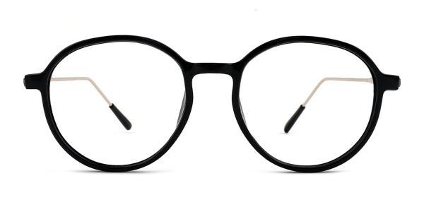 82028 Leda Oval black glasses