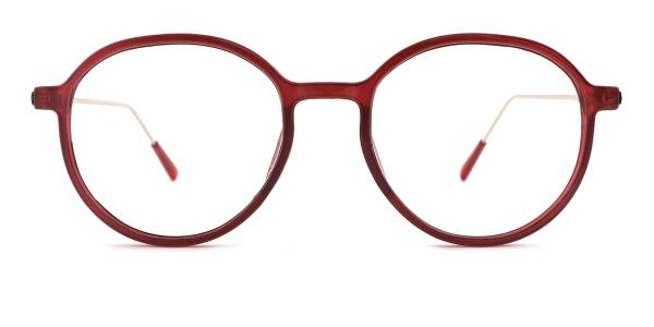 82028 Leda Oval red glasses