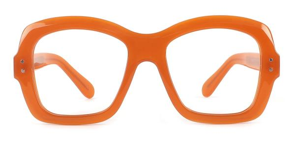 86313 Regina Rectangle orange glasses