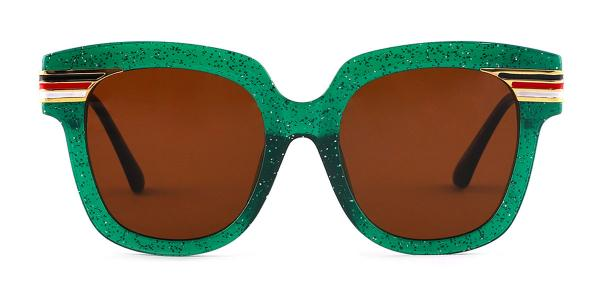 8836 Palms Rectangle green glasses