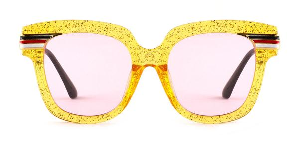 8836 Palms Rectangle black glasses