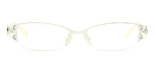 8933 Flint Rectangle white glasses