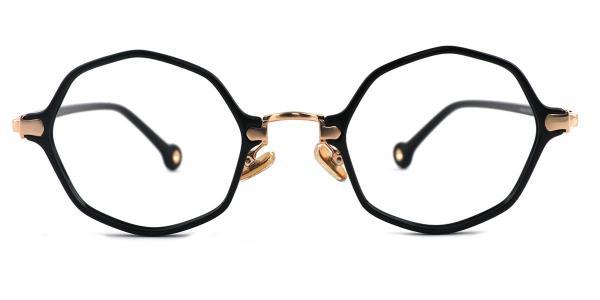 90156 Maggie Geometric gold glasses