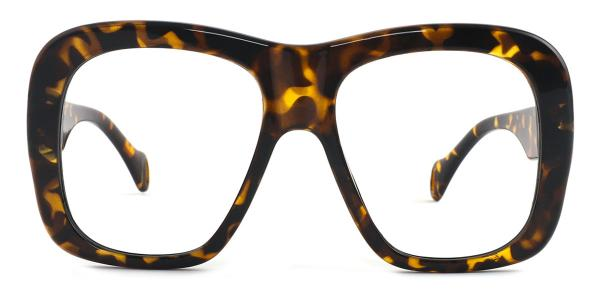 9031 Nathalie Rectangle tortoiseshell glasses