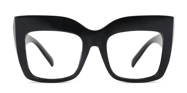 9039 Layla Rectangle black glasses