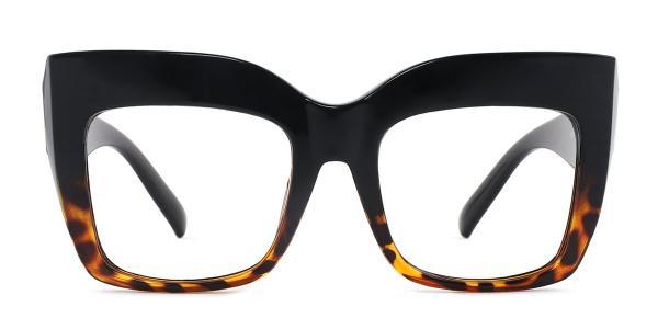 9039 Layla Rectangle tortoiseshell glasses