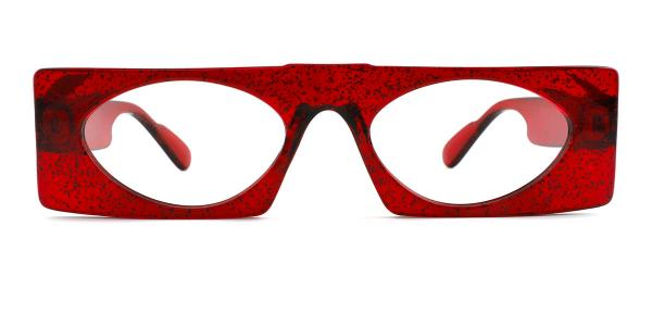 9069 Callie Rectangle red glasses