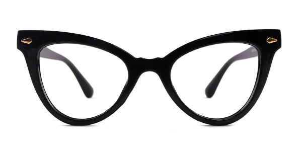 9072 Hayley Cateye black glasses