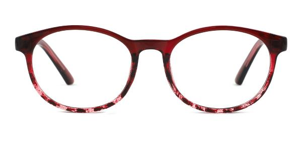 9117 Belle Oval red glasses