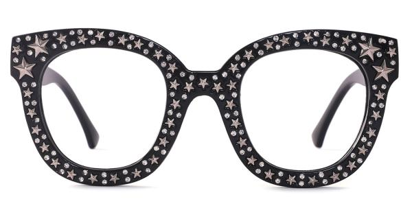 9136 Starry Oval black glasses