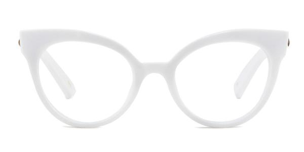 92111 Roosevelt Cateye white glasses