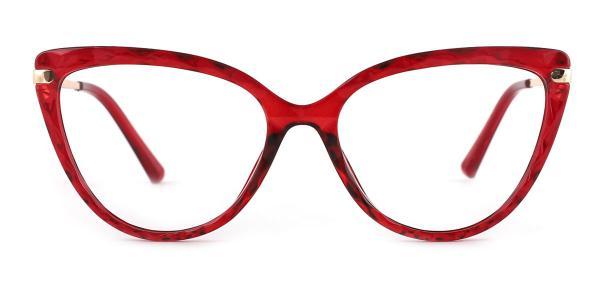 92302 Blossom Cateye red glasses