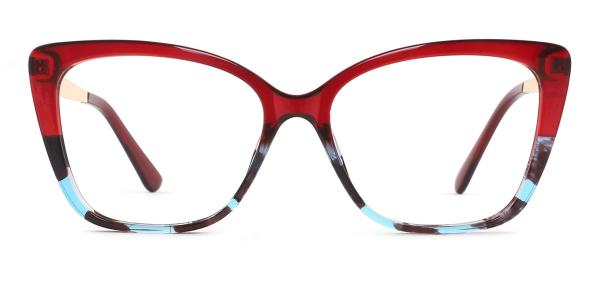 92313 Gigi Rectangle red glasses