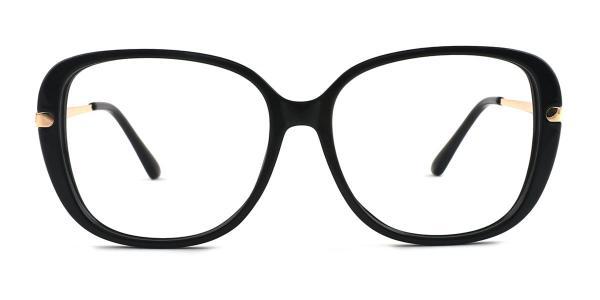 93312 Tatum Oval black glasses