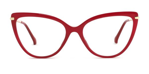 93335 Fay Cateye red glasses
