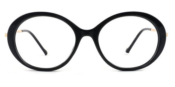 95186 Jessica Oval black glasses