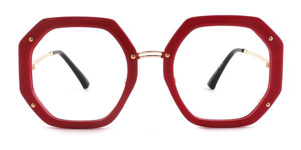 95243 Shanna Geometric red glasses