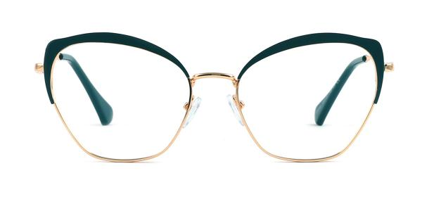 95546 Suzanne Cateye green glasses