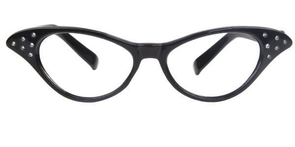 9632 Mairead Cateye black glasses
