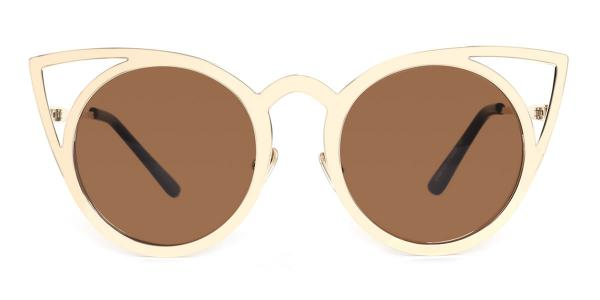 97146 cattyrella Cateye gold glasses