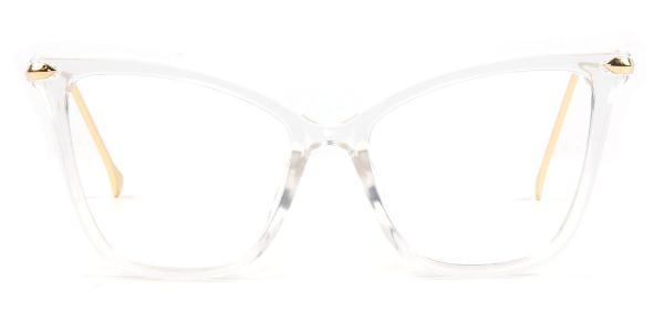 97152-1 Aaliyah Cateye clear glasses