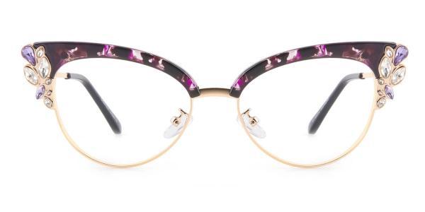 97329 Moana Cateye purple glasses