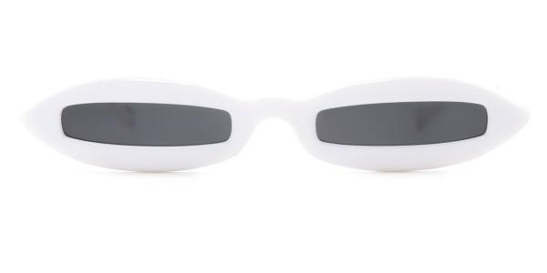 97550 Bairstow Cateye white glasses
