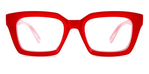 97562 Renee Rectangle red glasses