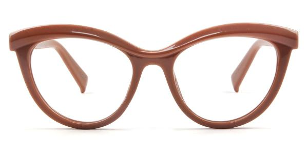 97565 Madison Cateye brown glasses