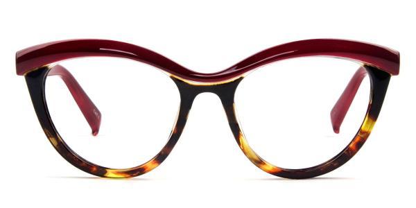97565 Madison Cateye red glasses