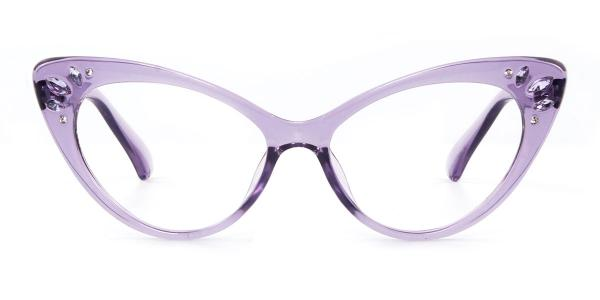 97568 Rogers Cateye purple glasses