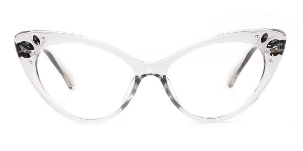 97568 Rogers Cateye white glasses